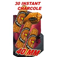 Instant Charcoal for Shisha, Hookah, Argila, ceremony, church, event- Fast light and Slow burning 40MM (3 Rolls- 30 Tablets)