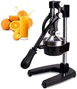 Switol Manual Citrus Juicer Press, Commercial Orange and Lemon Juice Squeezer Extractor (Black)