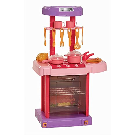 Just Like Home Foldable Kitchen Playset - Pink