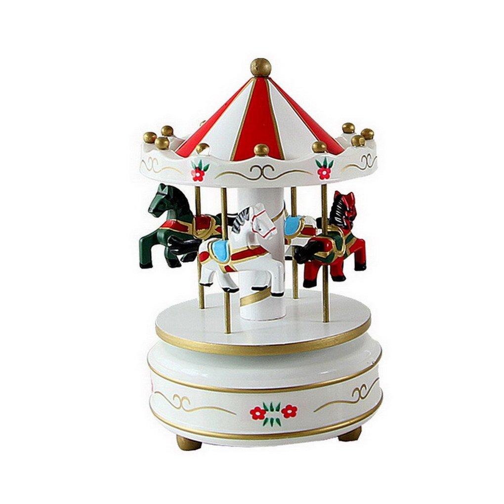 ★日本の職人技★ 木製Merry ACME-123 Go Round牧場馬Fairy Musicalボックス誕生日Xmasクリスマスプレゼント誕生日ギフトのおもちゃキッズ子供 ACME-123 Go B01IHAS0GK B01IHAS0GK #3 #3, 益子町:84616432 --- egreensolutions.ca