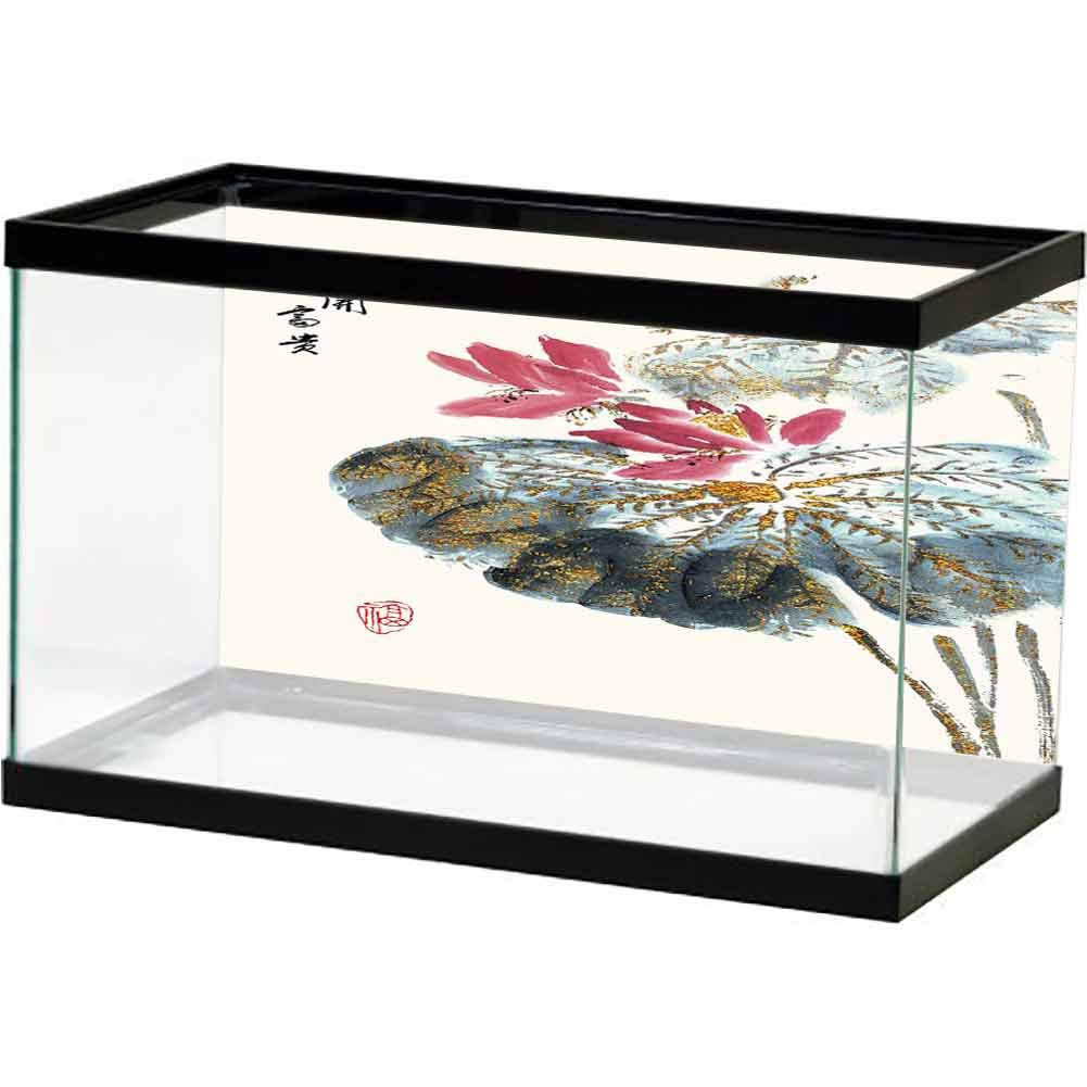 bybyhome Underwater Poster Lotus and Lotus Root, Chinese Painting (1) Image Decor by bybyhome