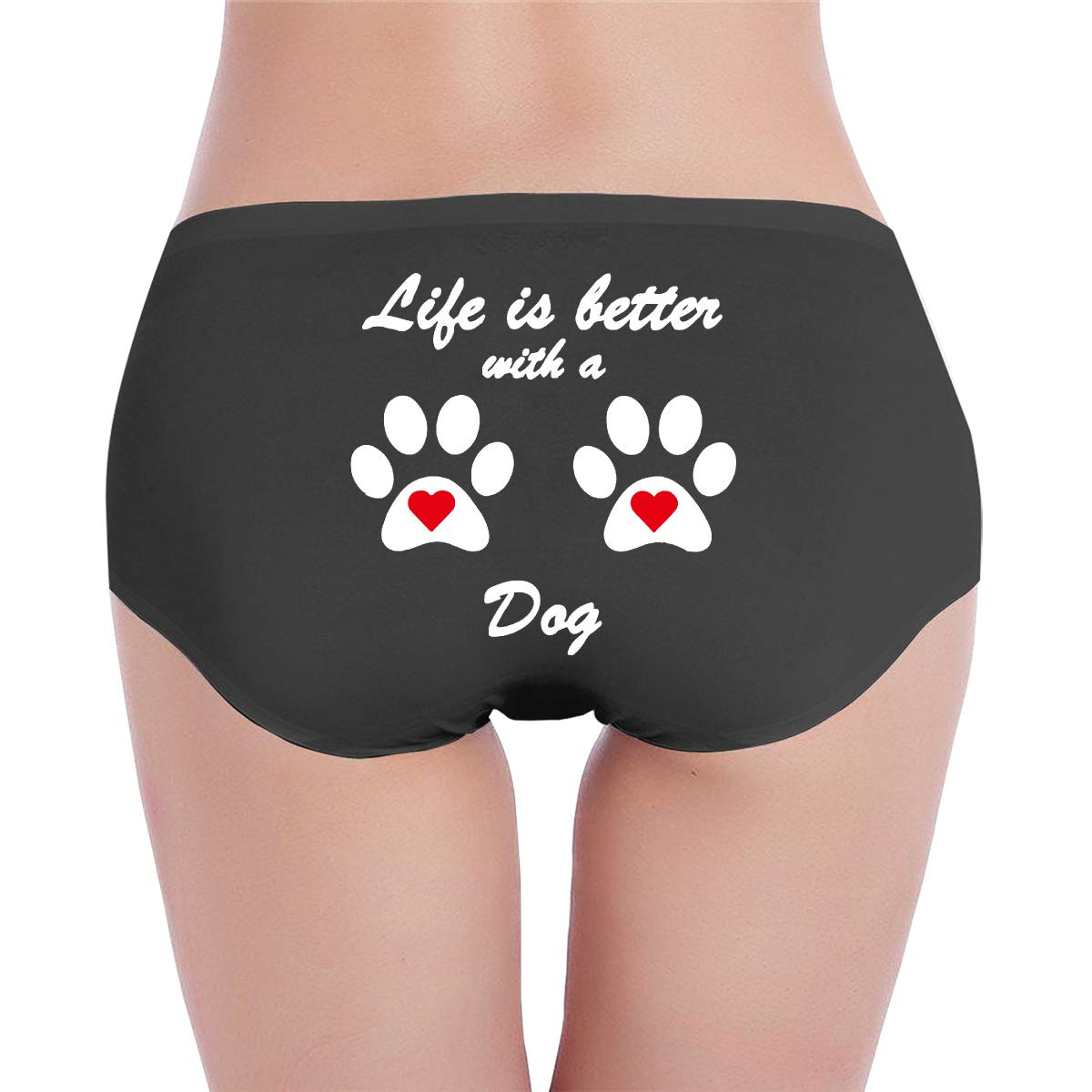 Life is Better with A Dog Womens Soft Stretch Briefs Panties