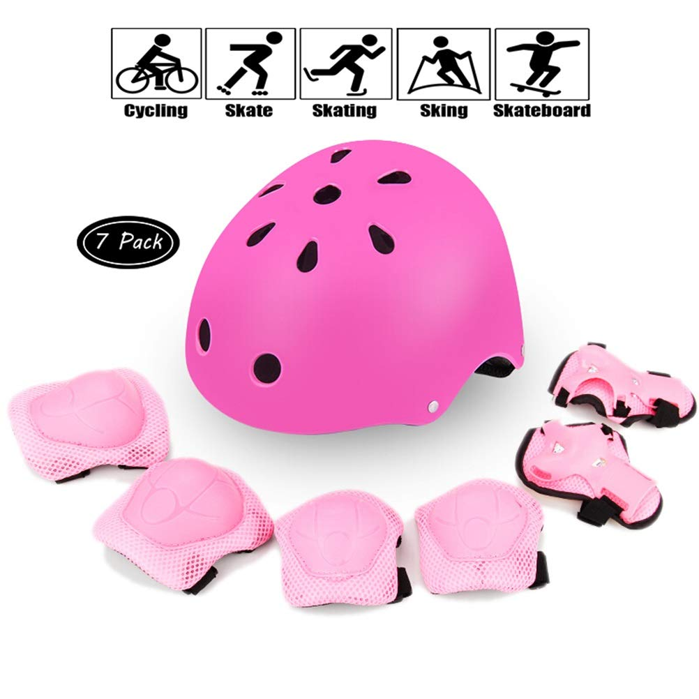 GYL-JL Pink Kid's Protective Gear Set Skateboard Bicycle