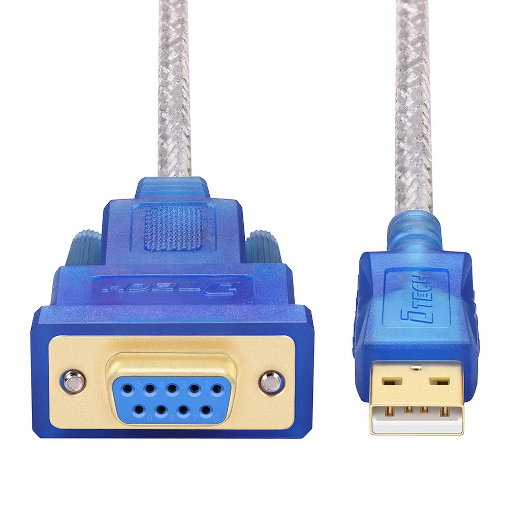DTECH 6 Feet USB 2.0 to RS232 DB9 Female Serial Adapter Cable Supports Windows 10, 8, 7, Mac, Linux Guangzhou DTECH Electronics Technology Co. Ltd DT-5002B