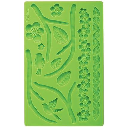 Wilton 409-2565 - Molde para fondant y pasta de goma, diseño de flores