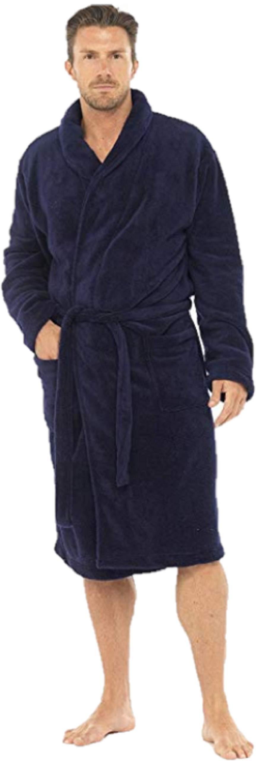 Bata de lujo de Michael Paul para hombre, de suave forro polar product image
