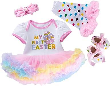 BABY GIRLS My 1ST EASTER Tutu Romper Dress Gold BUNNY Newborn Princess GIFT Cute