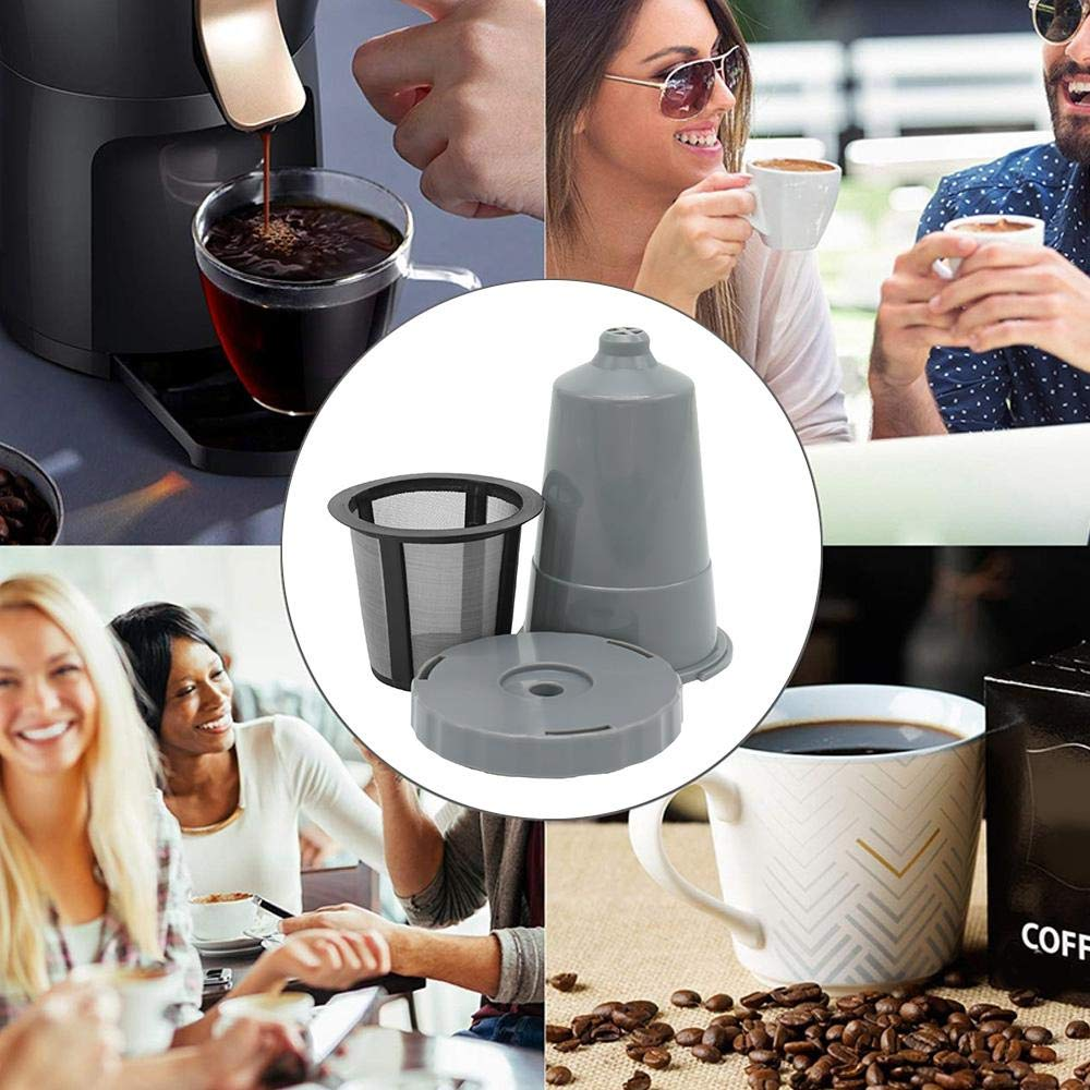 Volwco Reusable K Cup for Keurig,3 Pack Replacement Eco Coffee Filter Set Fits B30 B31 B40 B45 B50 B55 B60 B65 B70 B75 K31 K40 K45 K50 K55 K60 K65 K70 K75 Series