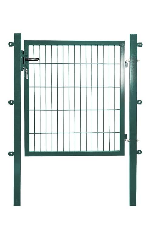komplett inkl 150 cm PfostenGartenzaun Zaun 10-50 m Stabmattenzaun grün