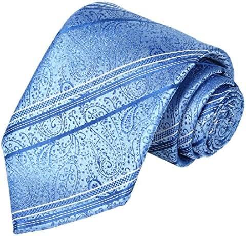 KissTies Mens Floral Necktie Paisley Striped Tie + Gift Box