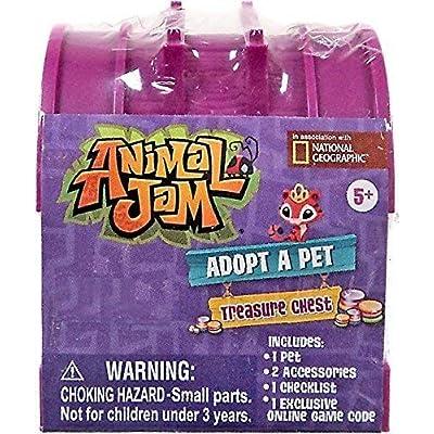 Set of 2: Animal Jam - BLIND BAG TREASURE CHEST ADOPT A PET (Various Colors) - Walmart Exclusive.: Toys & Games