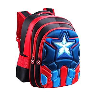 School Backpack Kids Schoolbag Student Bookbag with 3D Anime Super Hero Design | Kids' Backpacks