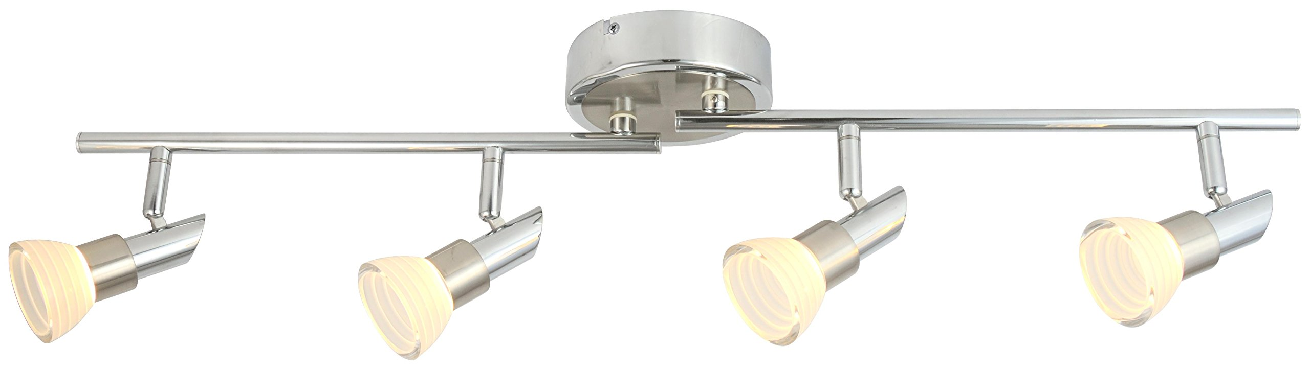 LED Adjustable Chrome Acrylic Spot light/ Track Lighting Ceiling light/Wall Sconce (4 Light)