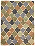 Stone & Beam Quarterfoil Wool Area Rug, 4' x 6', Light Multi