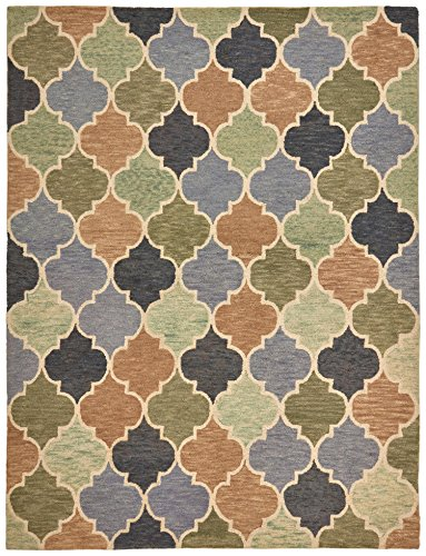 - Stone & Beam Quarterfoil Wool Area Rug, 5' x 7' 6