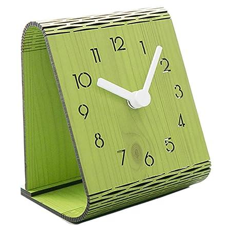 ZXCVB Reloj analógico de Mesa y Mesa de Madera Hecho de Pino ...