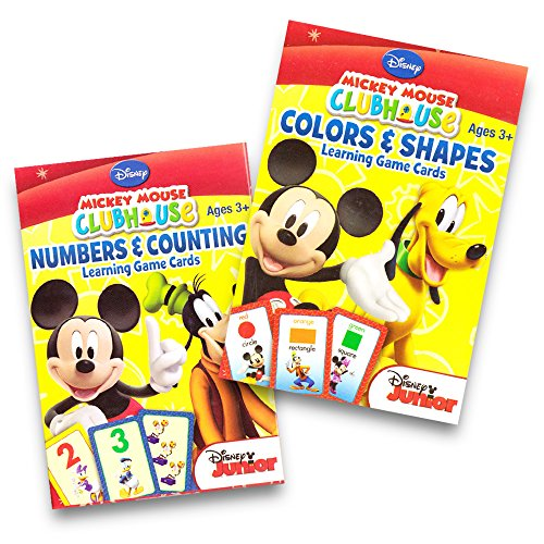 Disney Mickey Mouse Clubhouse Flash Cards (Set of 2 Decks). Colors & Shapes and Numbers & Counting Learning Game Cards (Shapes Colors Activities And)