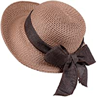 Anycosy Straw Sun Hat-Womens Floppy Foldable Beach Smmer Bohemia Bowknot  Cap s For Ladies and 4f3ddd7013ae