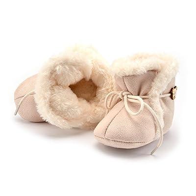 Elesa Miracle Baby Infant Boots, Soft Sole Anti-Slip Winter Warm Prewalker Shoes