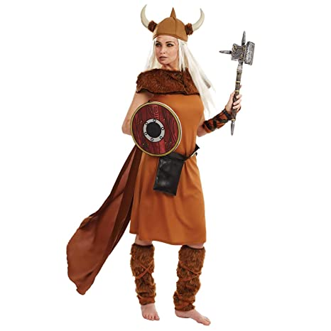 Fun Shack Costume Disfraz, Womens Viking, Small Womens ...