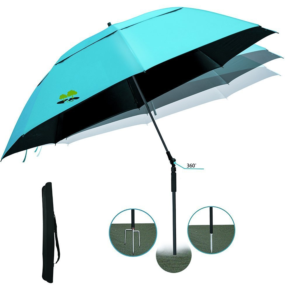 Beach Umbrella Portable Outdoor Sun Beachs Umbrellas 100% Antiultraviolet 100% Waterproof 360° Tilt.sky blue