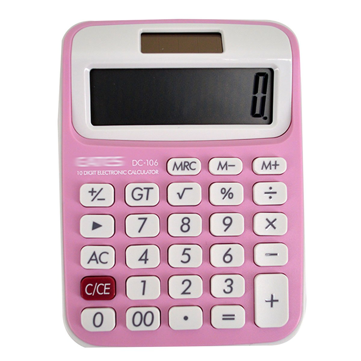 Sherry Calculator Electronic Calculator Large LCD Display Calculator Office Home School Desktop Calculator (Pink)