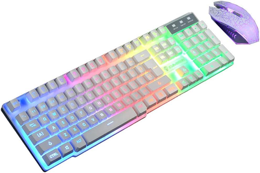 Ildlor USB Wired 35 Keys LED Backlit Single Hand Ergonomic Comfortable RGB Rainbow One Hand Keypad Gaming Keyboard