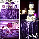 70% off More sizes Purple Sequin tablecloth for Wedding Event supplies Choose size 72'' to 196''