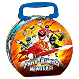 Power Rangers Megaforce Round Metal Lunch Box Birthday Party Favor, Multi