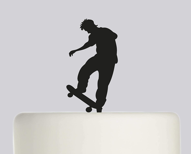 Swell Rustic Birthday Cake Topper Skateboard Skateboarder Happy Birthday Funny Birthday Cards Online Bapapcheapnameinfo