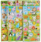 4 Sheets Cute Lovely Puffy DIY Decorative Adhesive Sticker Tape/Kids Craft Scrapbooking Sticker Set for Diary, Album…