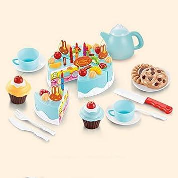 Amazon.com: emorefun juguetes 54pcs plástico Tarta de ...