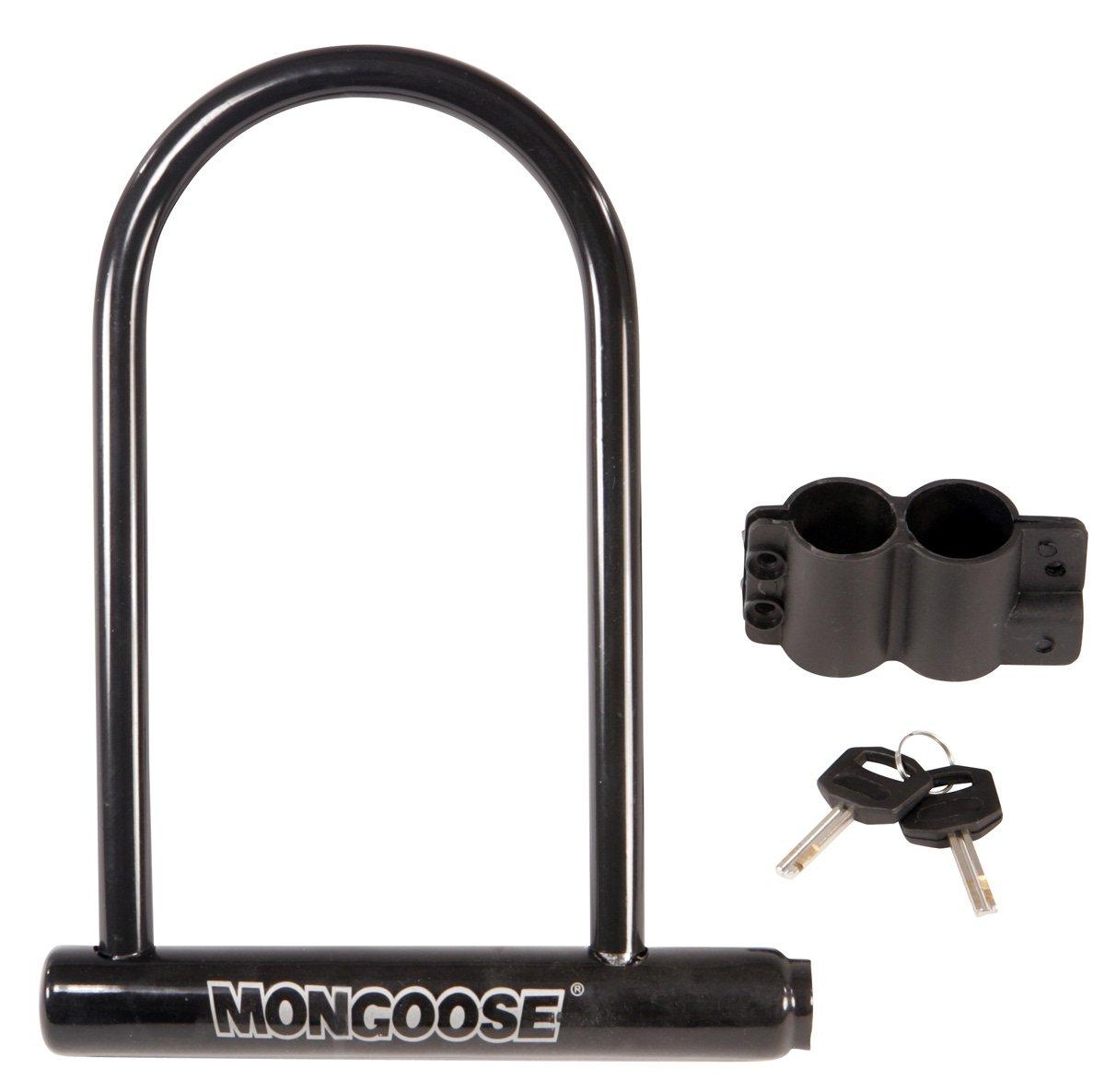 mongoose large bicycle u lock ebay. Black Bedroom Furniture Sets. Home Design Ideas