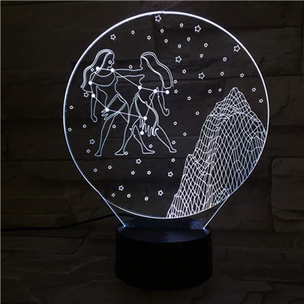 XYHX Gemini LED Illusion, Table de Chevet Optique 3D