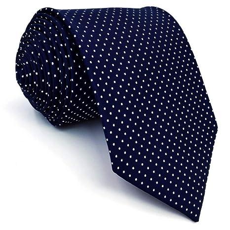 WOXHY Accesorios Corbata Azul Corbatas de Moda para Hombre Extra ...