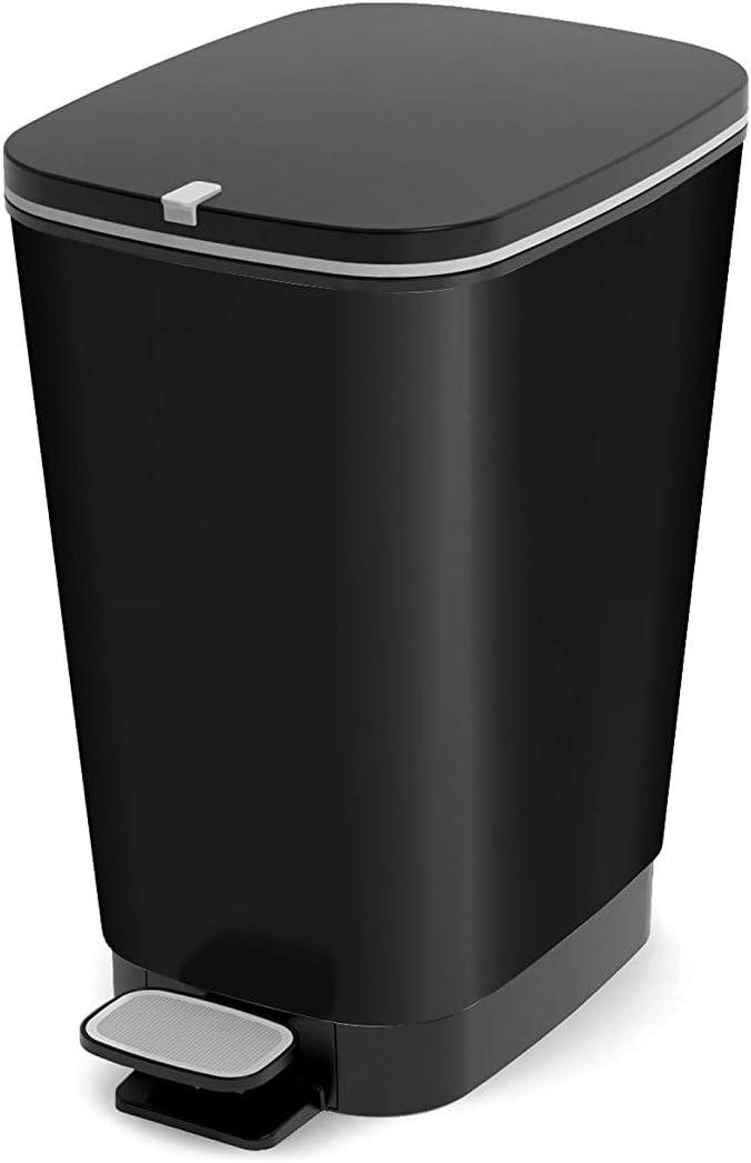 SIK KIS 8071800 1784 30L Rectangular Negro cesto de Basura - Cubo de Basura (265 mm, 405 mm, 450 mm)