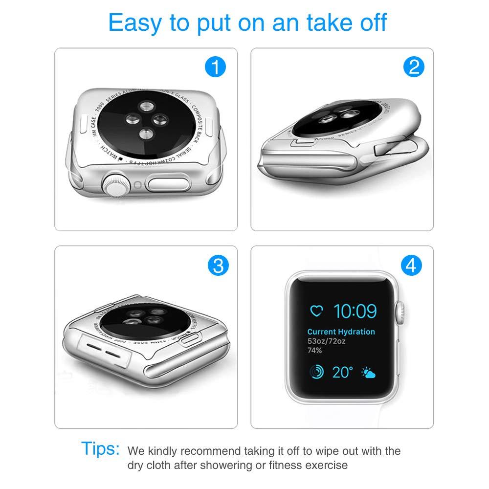 Amazon.com: Bellamei - Funda de silicona para Apple Watch ...