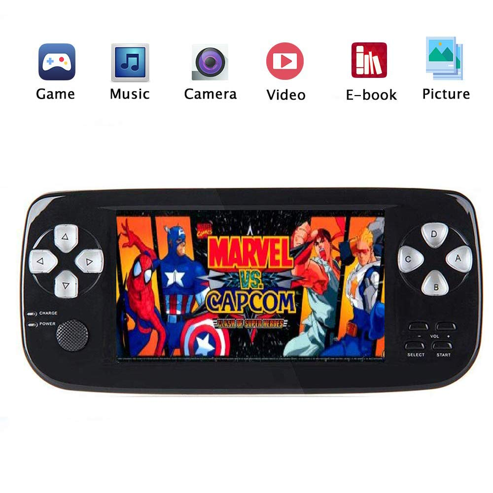 4.3-Inch Super New 32-Bit PSP Pap-K3 Classic Console Game Console, Support for Downloading Multi-Format Games for Classic Game Consoles, White,Black