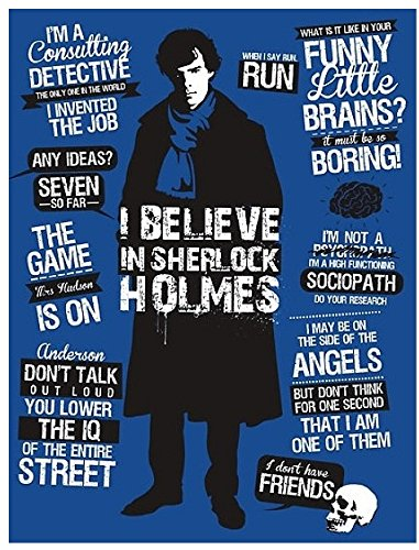 Maggd 'I Believe In Sherlock Holmes' | Sherlock Posters | Poster For