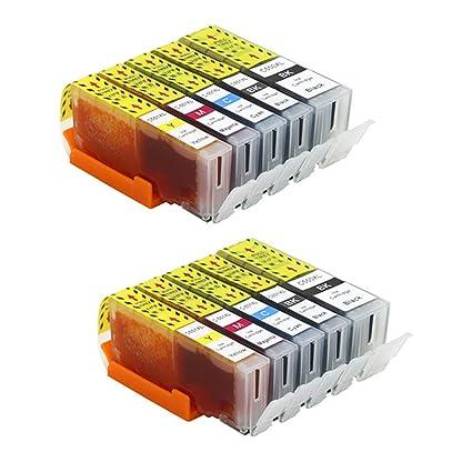 Pure-color Reemplazo para Canon PGI-550 XL CLI-551 XL Cartuchos de Tinta Compatible para Canon IP7250 MG5650 MX925 iX6850 MG5550 MG5450 MG6650 MX920 ...