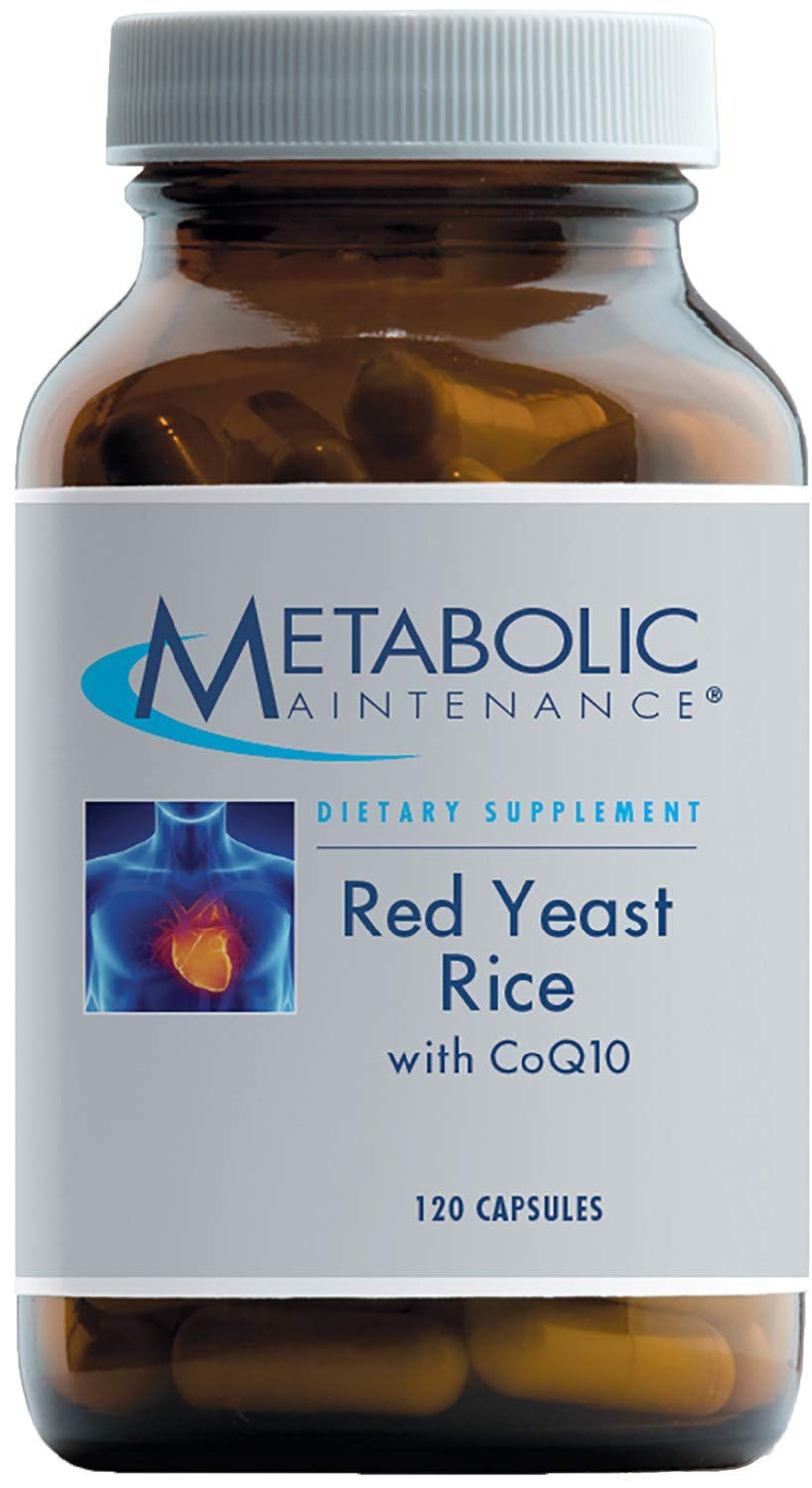 Metabolic Maintenance Red Yeast Rice with CoQ10-1200 mg Concentrate + 200 mg Coenzyme Q10 for Cardiovascular Support (120 Capsules)