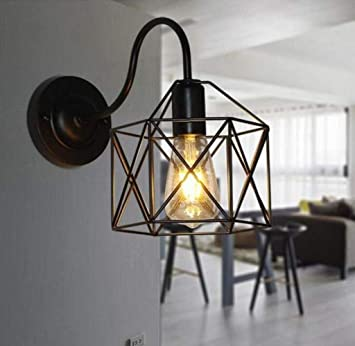 Mkjbd Linterna de Pared Lámpara de Jardín Lámpara de Pared Lámpara de Pared Loft Lámparas de