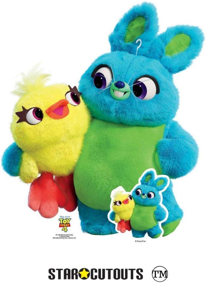 Star Cutouts SC1364 Mini-Aufsteller Hase und Ente mehrfarbig 4 Mini-Aufsteller 85 cm hoch ideal f/ür Toy Story
