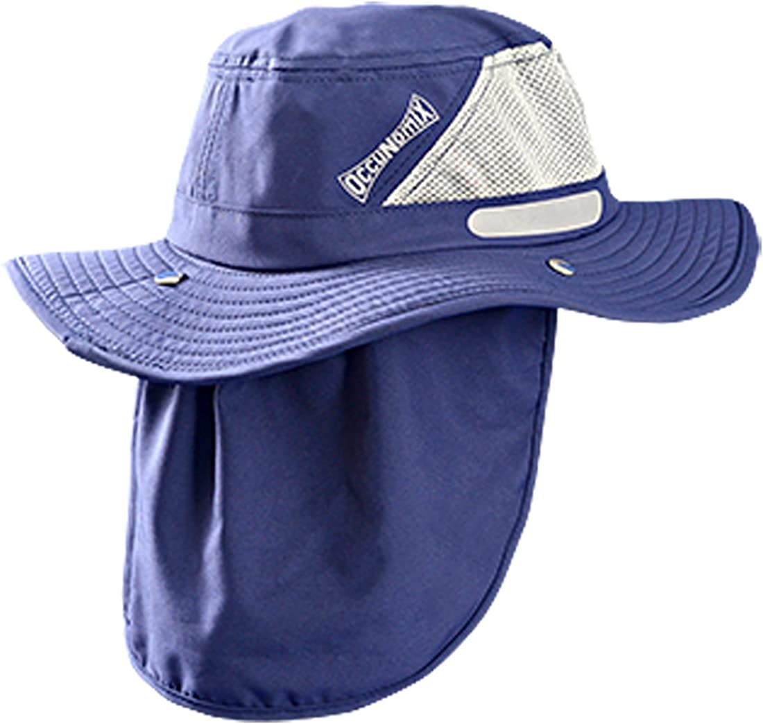 OccuNomix Tuff & Dry Wicking & Cooling Ranger Hat with Neck Shade - TD500-018-XL - UPF 45+ Navy