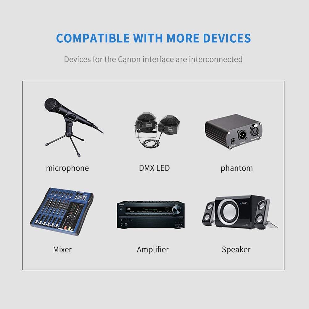 SiYear DMX-512 XLR 5 Pin Male to XLR 5 Pin Female DMX Lighting Cable 1.5M//5FT