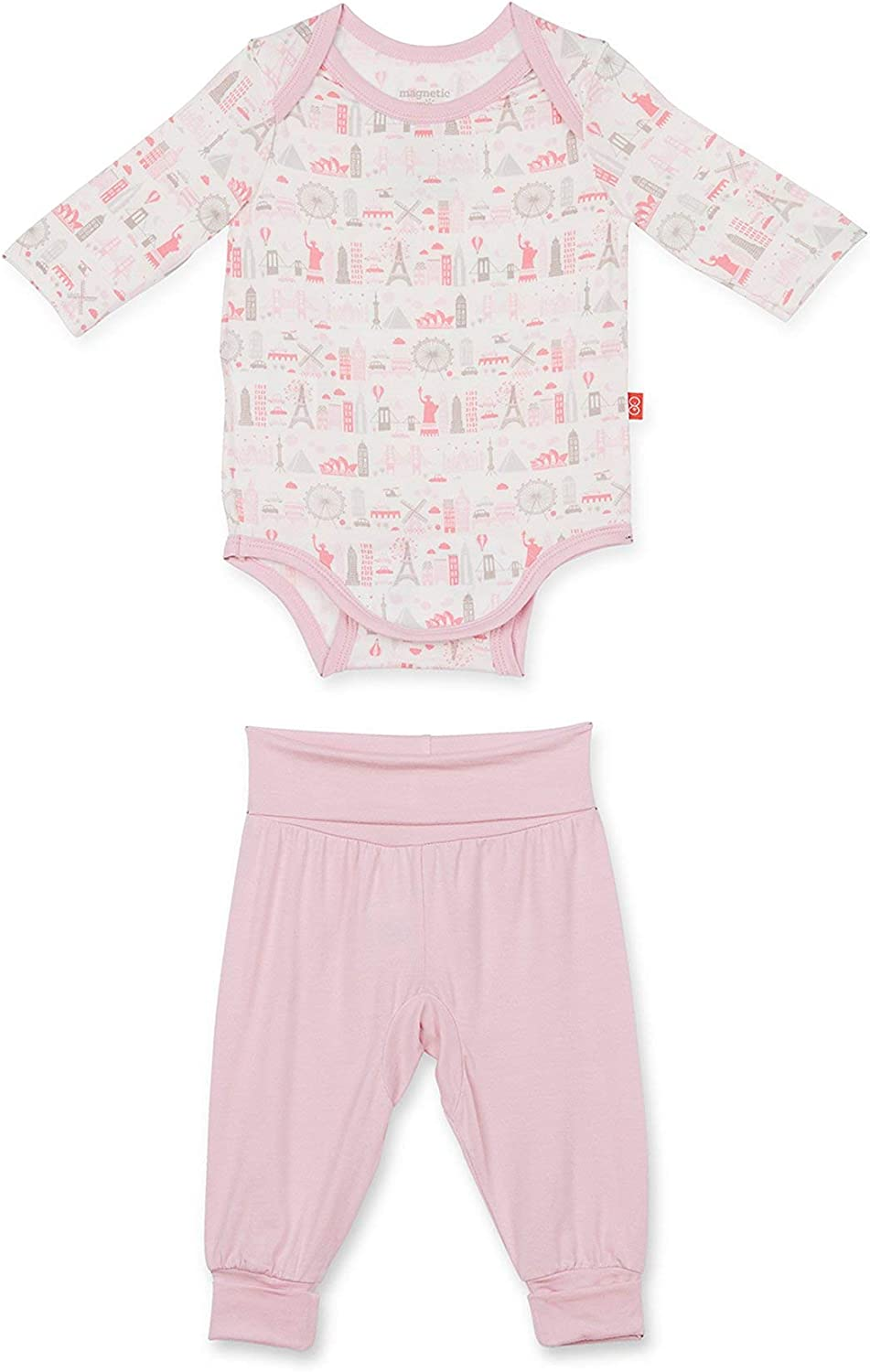 Magnificent Baby Magnetic Me Modal Magnetic Onesie//Harem Pant Set