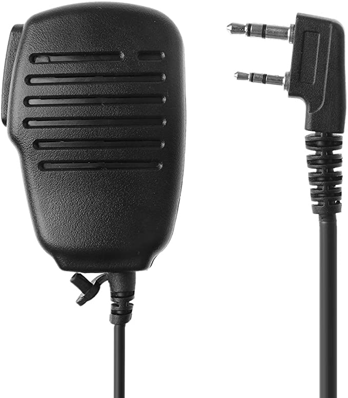 SimpleLif 2-Pin PTT Speaker Microphone Mic//Remote Speaker Mic for BAOFENG UV-5R RETEVIS H777 Radio Walkie Talkie