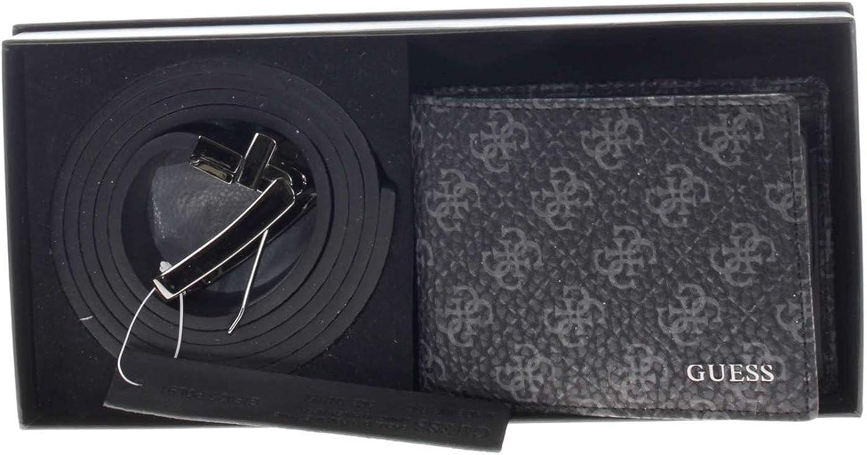 Guess Coffret Cadeau Ceinture+portefeuille Gif025pol91 Noir