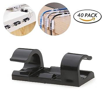 Selbstklebende Kabel Clips, Stanaway 40 PCS Schreibtisch Draht ...