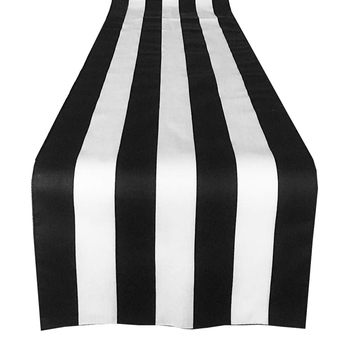 (36cm x 270cm, Black and White) - lovemyfabric Cotton 5.1cm Stripes For Wedding/Bridal Shower Birthdays Home Decor and Special Events Table Runner. (36cm x 270cm, Black and White) 14\ ブラック&ホワイト B06Y4Y27B2